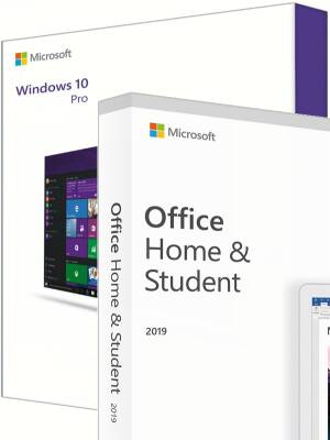Windows 10 Pro + Office 2019 Home & Student
