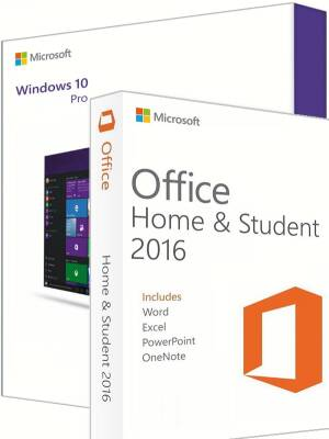 Windows 10 Pro + Office 2016 Home & Student