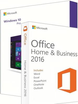 Windows 10 Pro + Office 2016 Home & Business