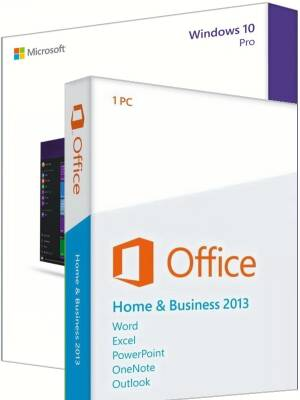 Windows 10 Pro + Office 2013 Home & Business