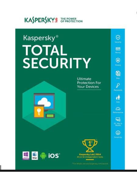 Kaspersky Total Security-Reinnoire-1 an-3 licente